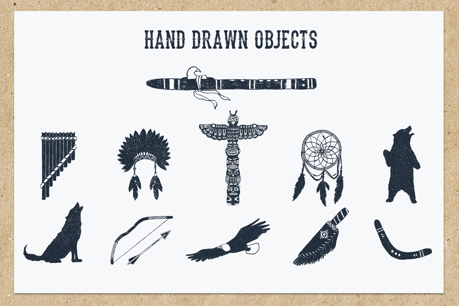 Native Spirit - 55 Hand Drawn Objects Graphic By Cosmic Store Image 4