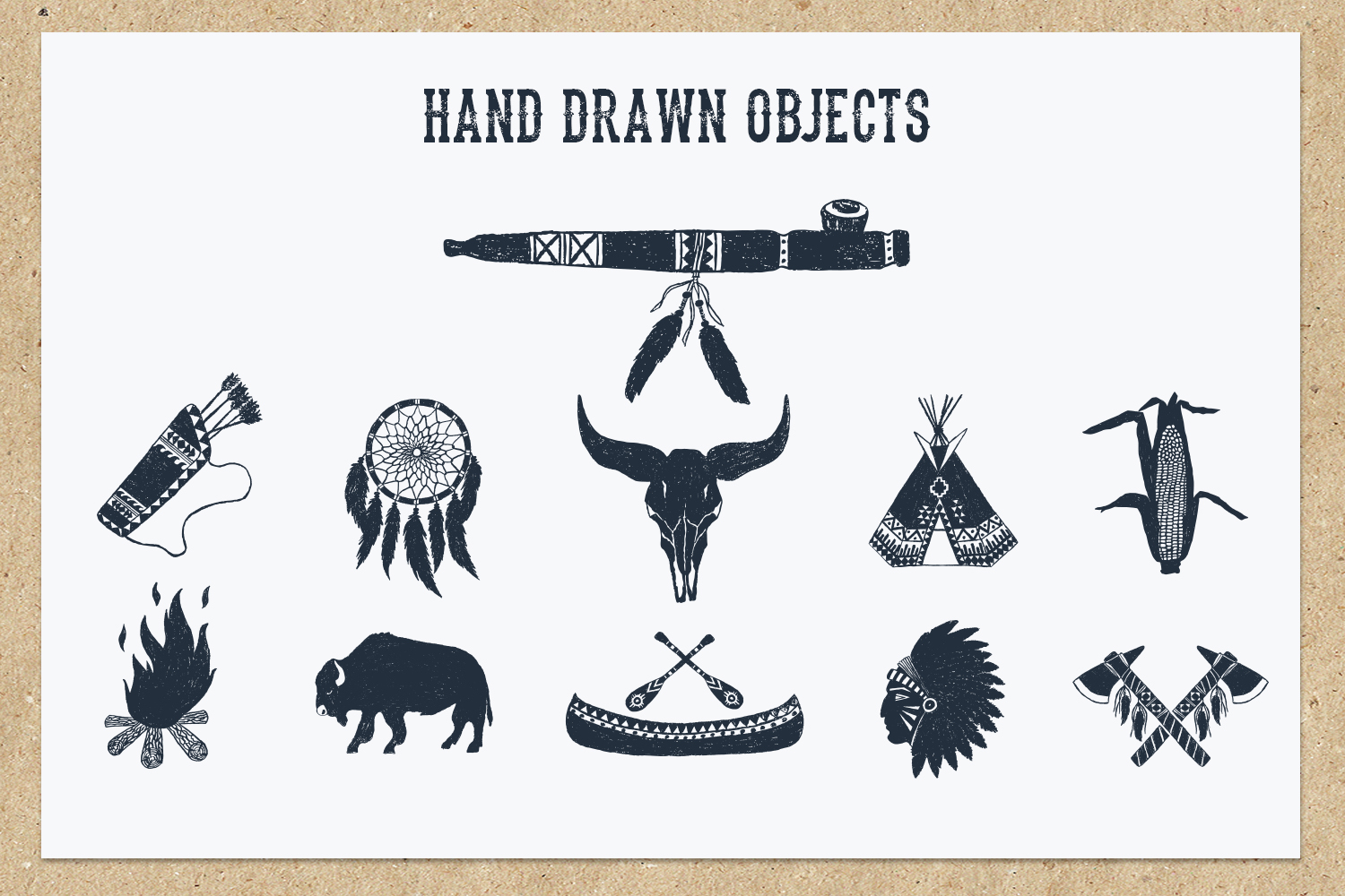Native Spirit - 55 Hand Drawn Objects Graphic By Cosmic Store Image 5