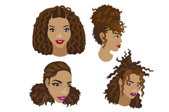 Download Free Natural Hair Svg Cut File By Creative Fabrica Crafts Creative for Cricut Explore, Silhouette and other cutting machines.