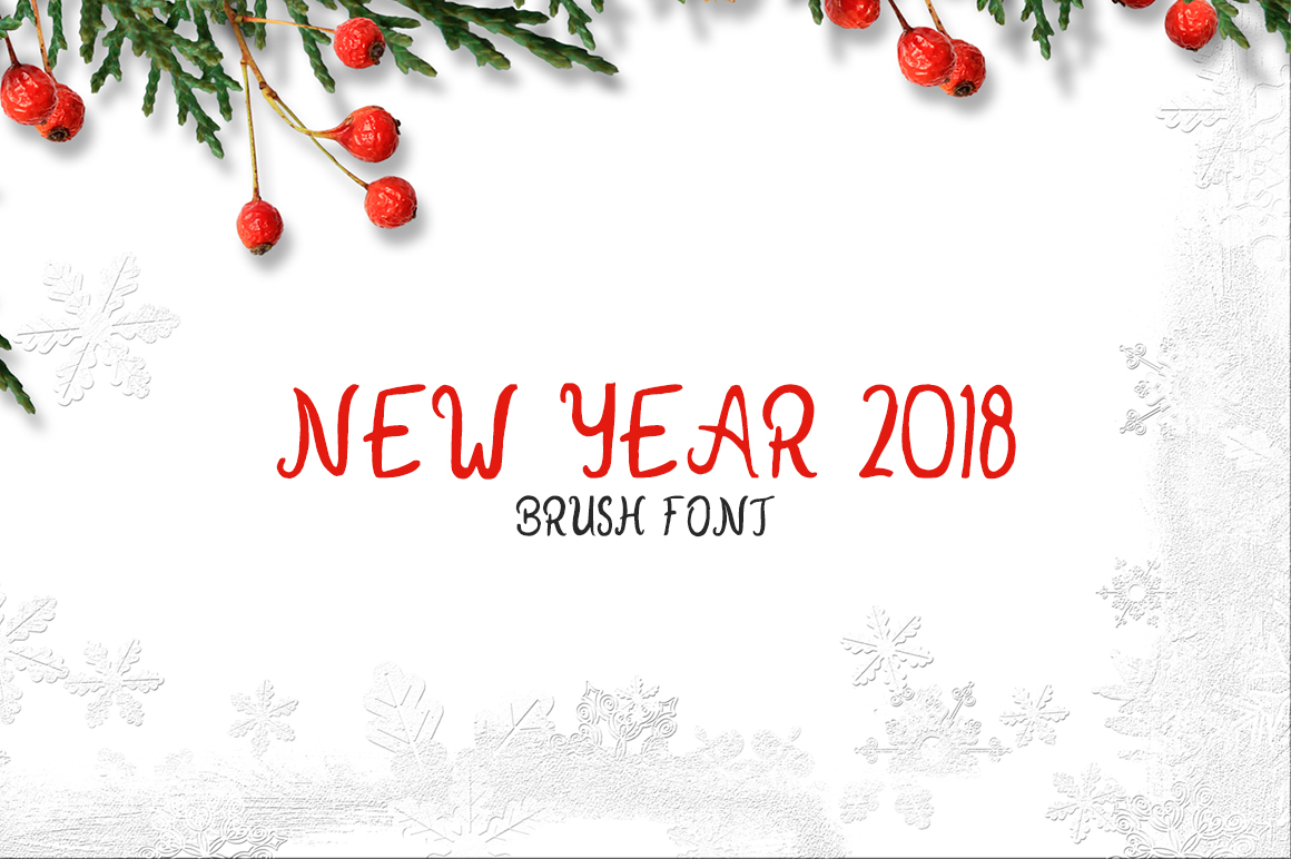 New Year 2018 Font By Creative Tacos