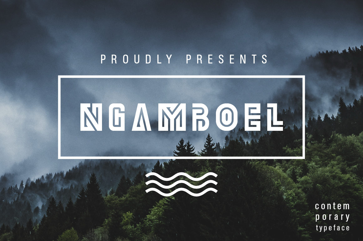Print on Demand: Ngamboel Display Font By Arterfak Project