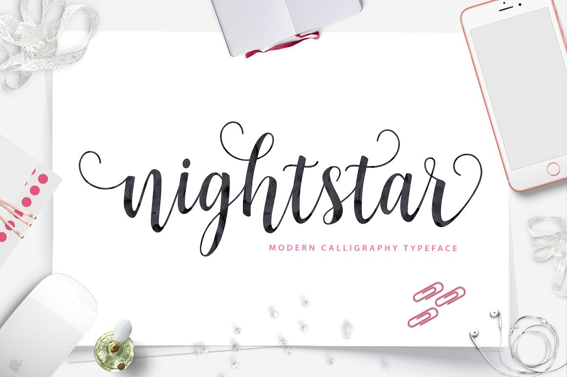 Print on Demand: Nightstar Script Script & Handwritten Font By Unicode Studio