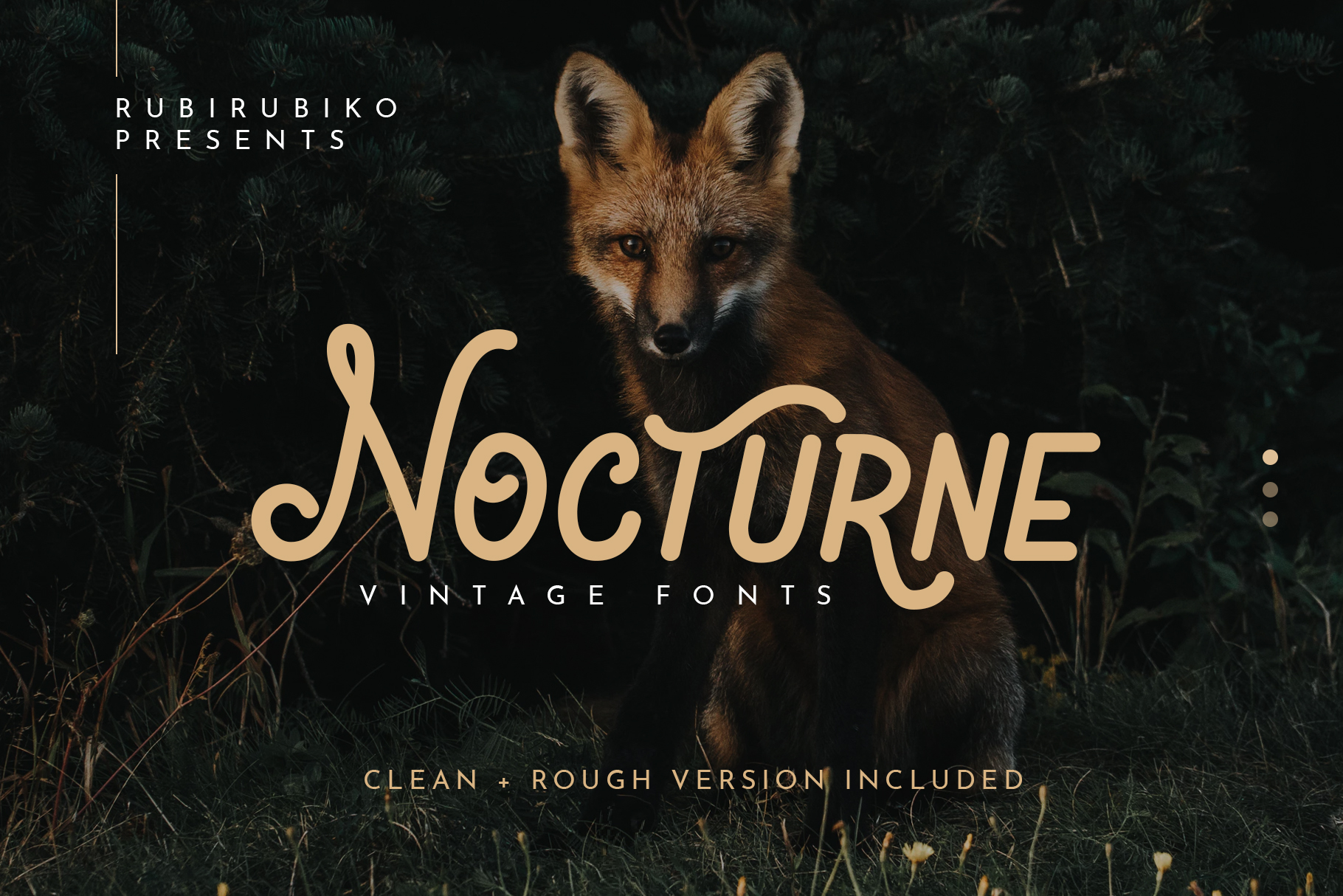Print on Demand: Nocturne Display Font By rubirubiko