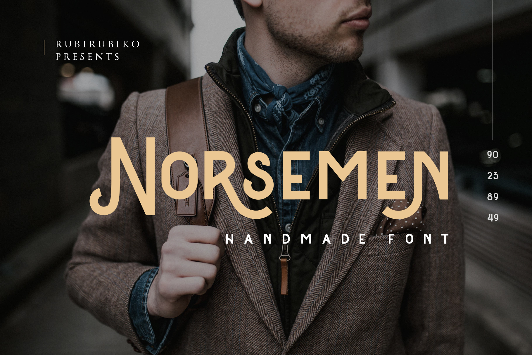 Print on Demand: Norsemen Display Font By rubirubiko