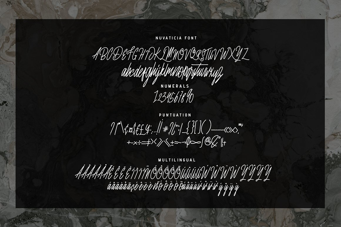 Print on Demand: Nuvanticia Script & Handwritten Font By bloomxxvi - Image 9