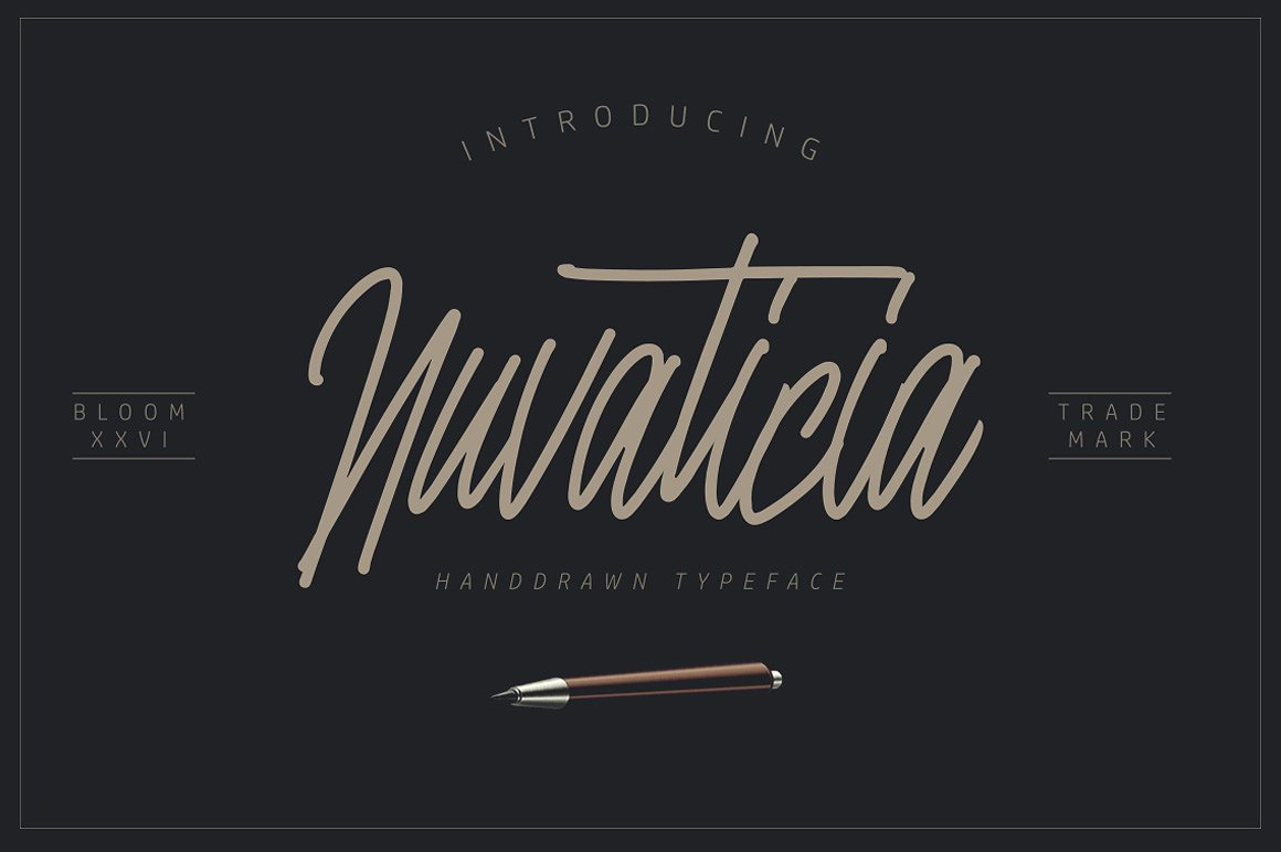 Print on Demand: Nuvanticia Script & Handwritten Font By bloomxxvi