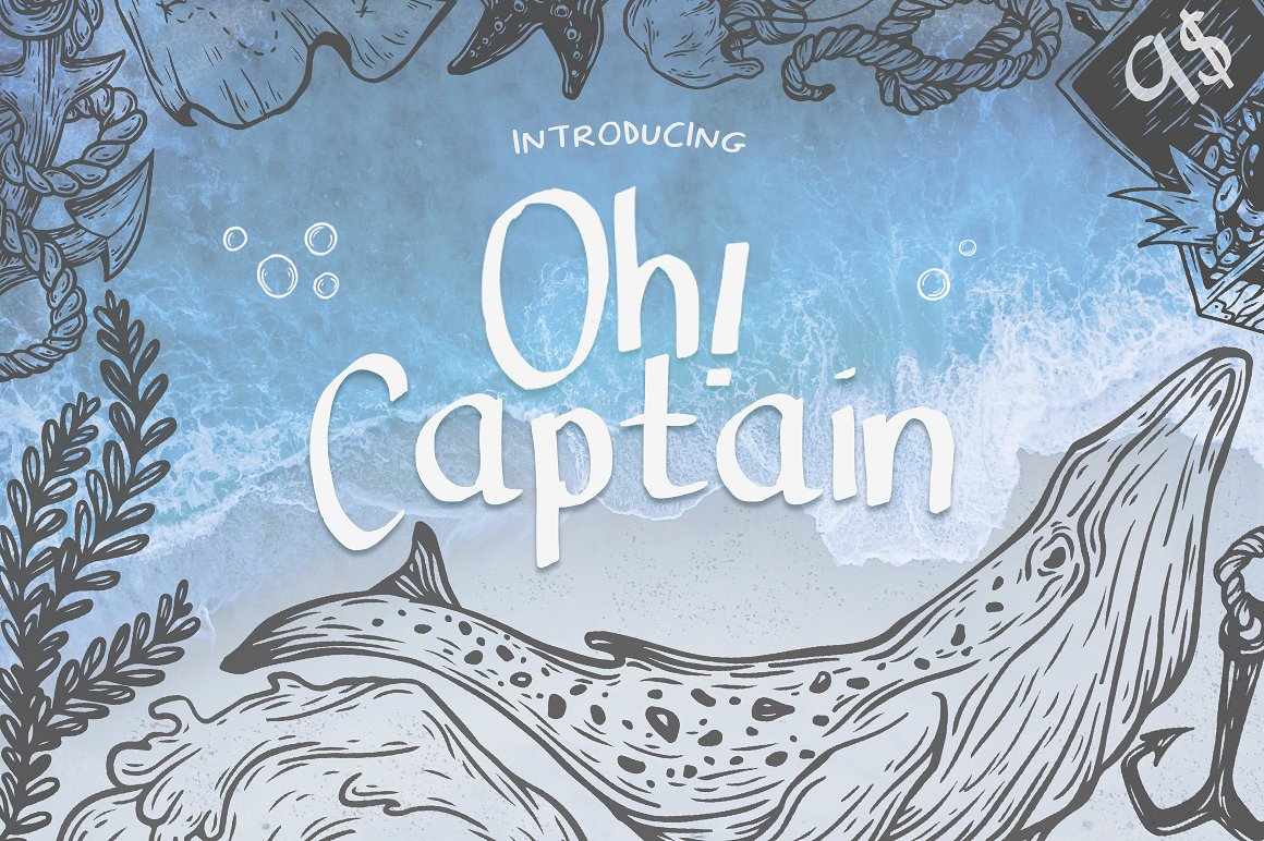 Print on Demand: Oh Captain Display Font By Salt & Pepper Designs - Image 1