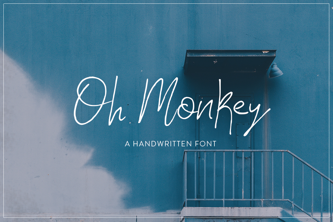 Print on Demand: Oh Monkey Script & Handwritten Font By Salt & Pepper Designs