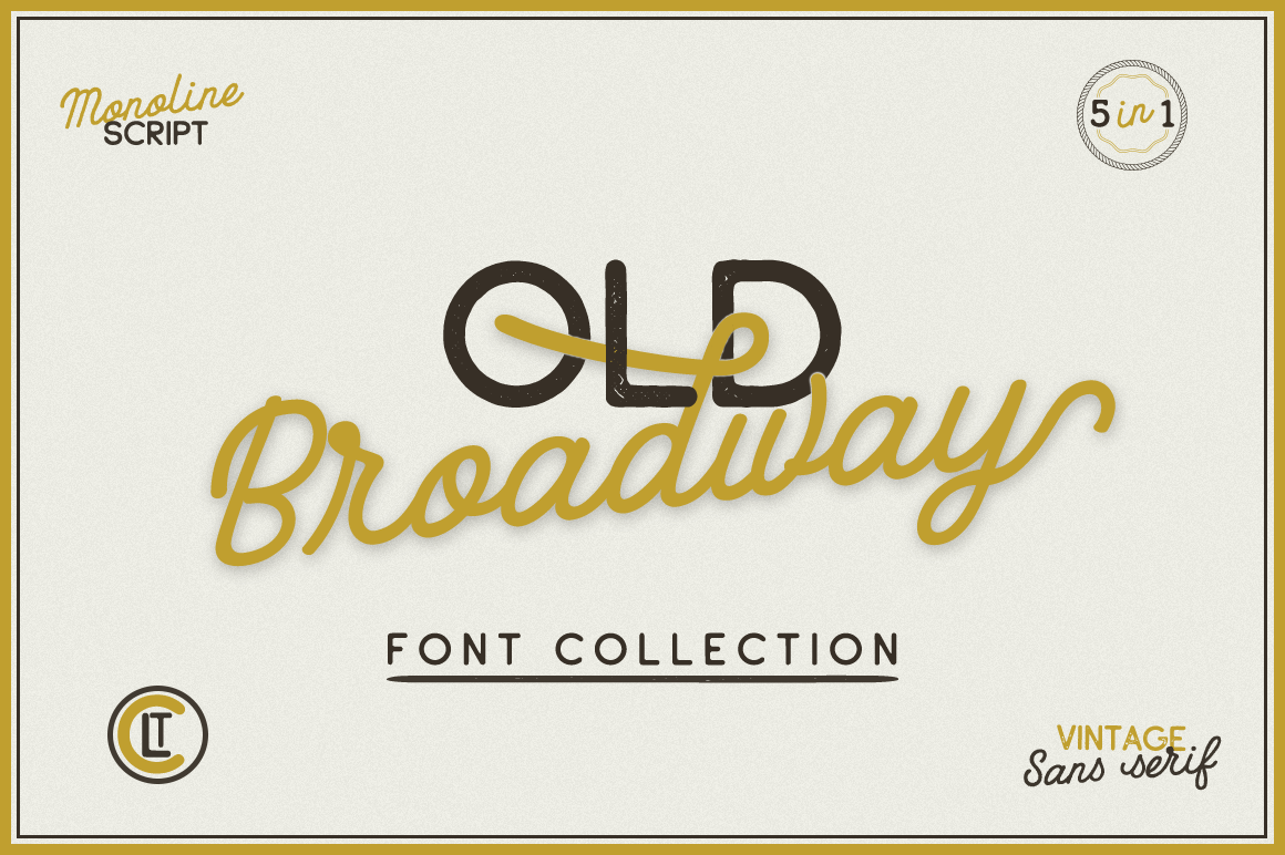 Print on Demand: Old Broadway Script & Handwritten Font By Pasha Larin