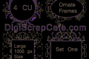 Ornate Frames Set 1 Graphic By Sojournstar