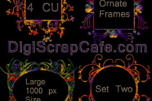 Ornate Frames Set 2 Graphic By Sojournstar