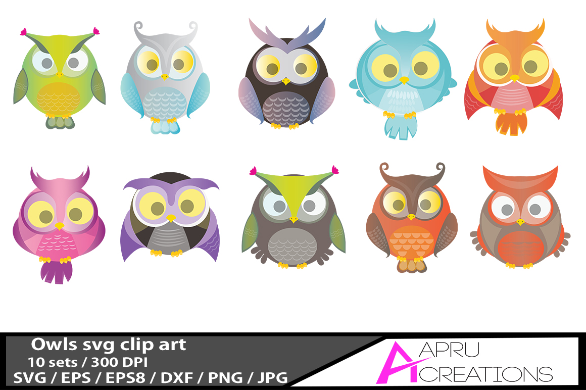 Owls Pack with 10 Owls Graphic By aparnastjp