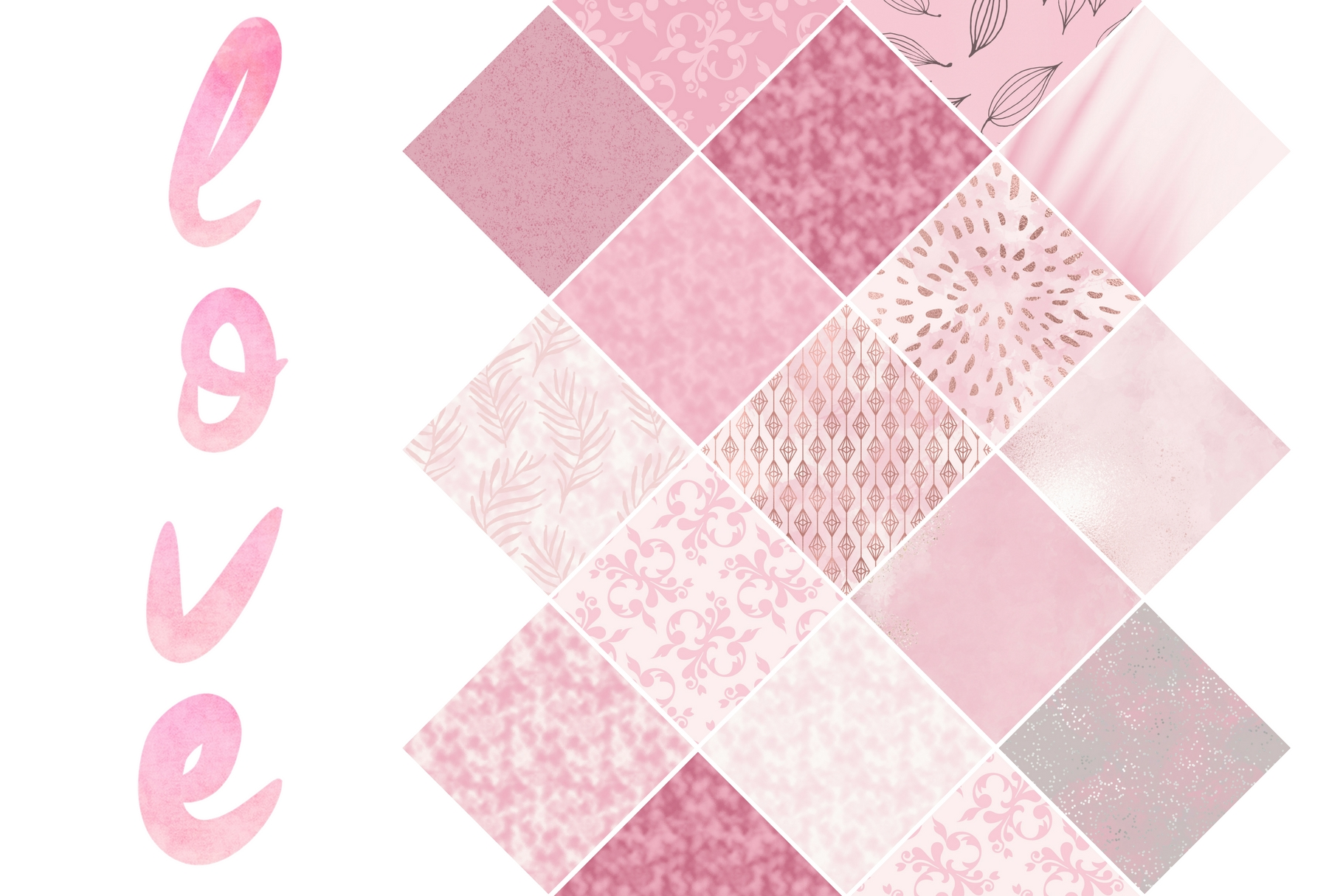 Paint and Pink Textures + Quotes Graphic Textures By Creative Stash - Image 2