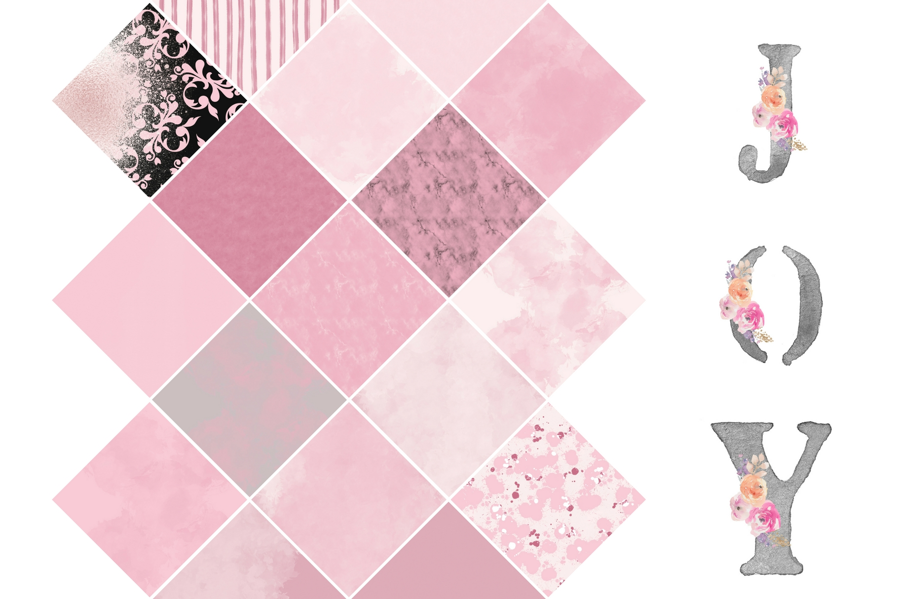 Paint and Pink Textures + Quotes Graphic Textures By Creative Stash - Image 3