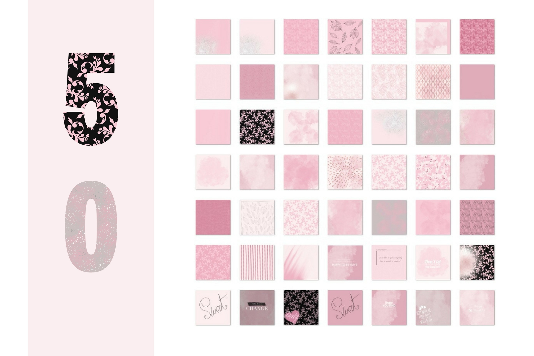 Paint and Pink Textures + Quotes Graphic Textures By Creative Stash - Image 8