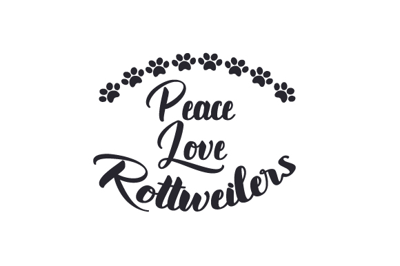 Download Free Peace Love Rottweilers Svg Cut File By Creative Fabrica Crafts for Cricut Explore, Silhouette and other cutting machines.