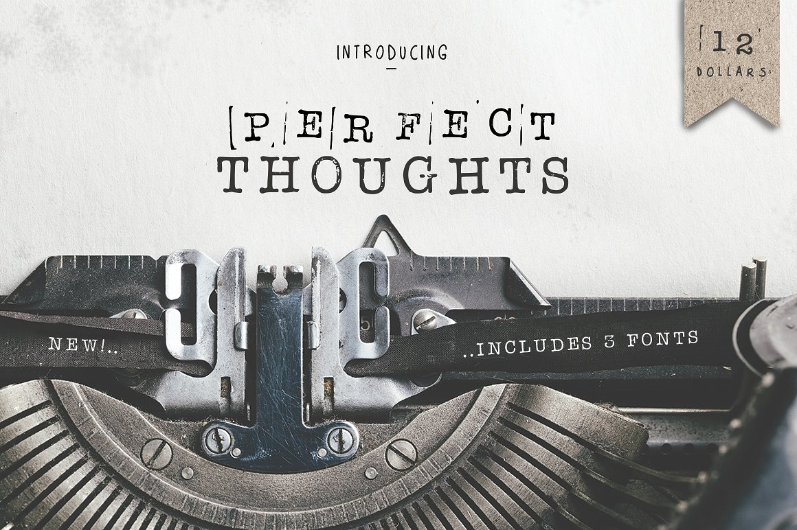 Print on Demand: Perfect Thoughts Serif Font By Salt & Pepper Designs