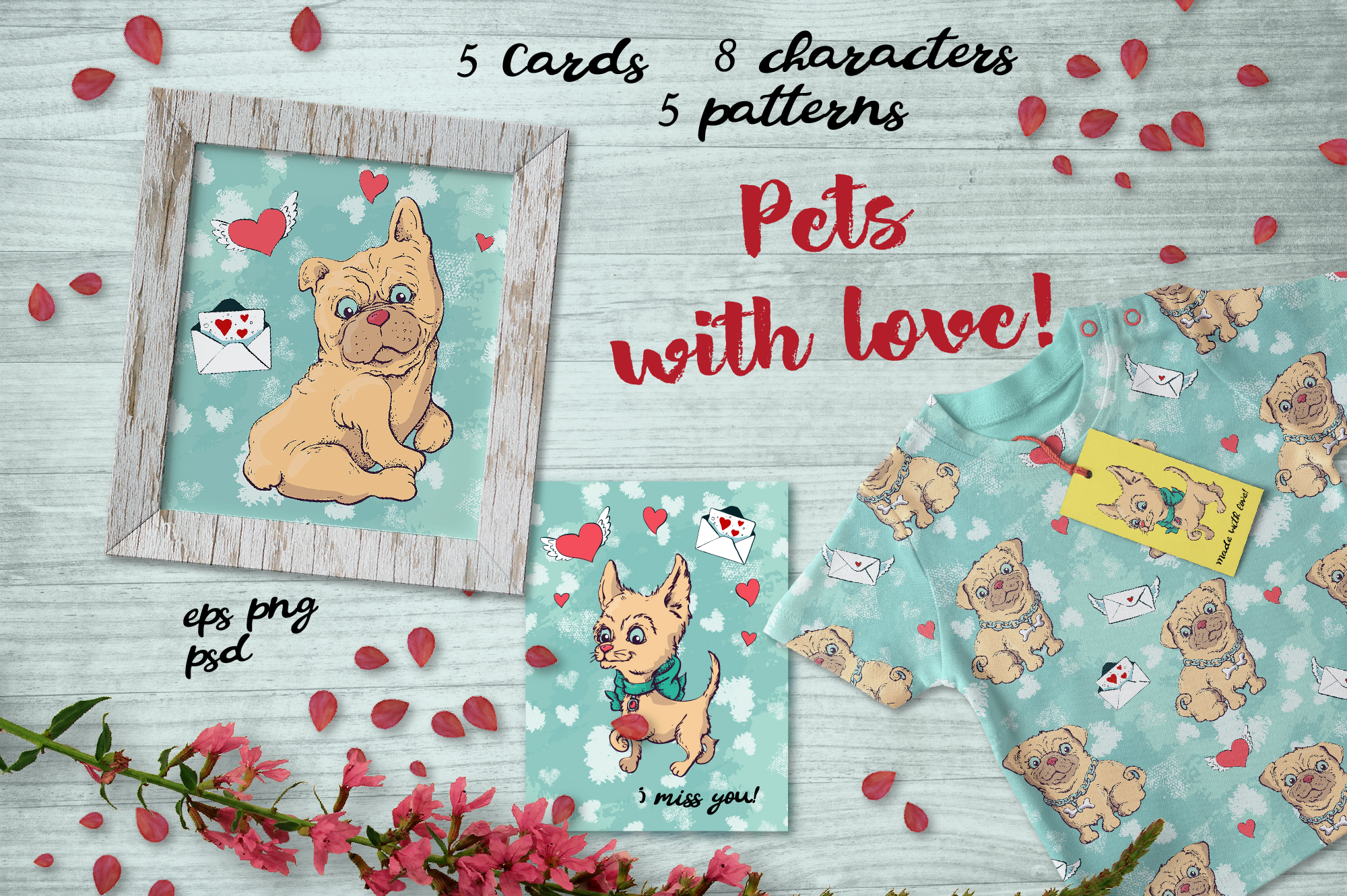 Pets with Love! Graphic By nicjulia
