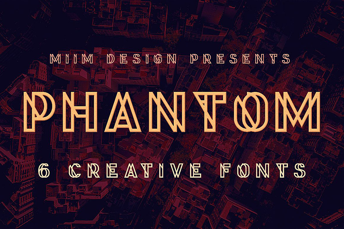 Print on Demand: Phantom Display Font By JumboDesign