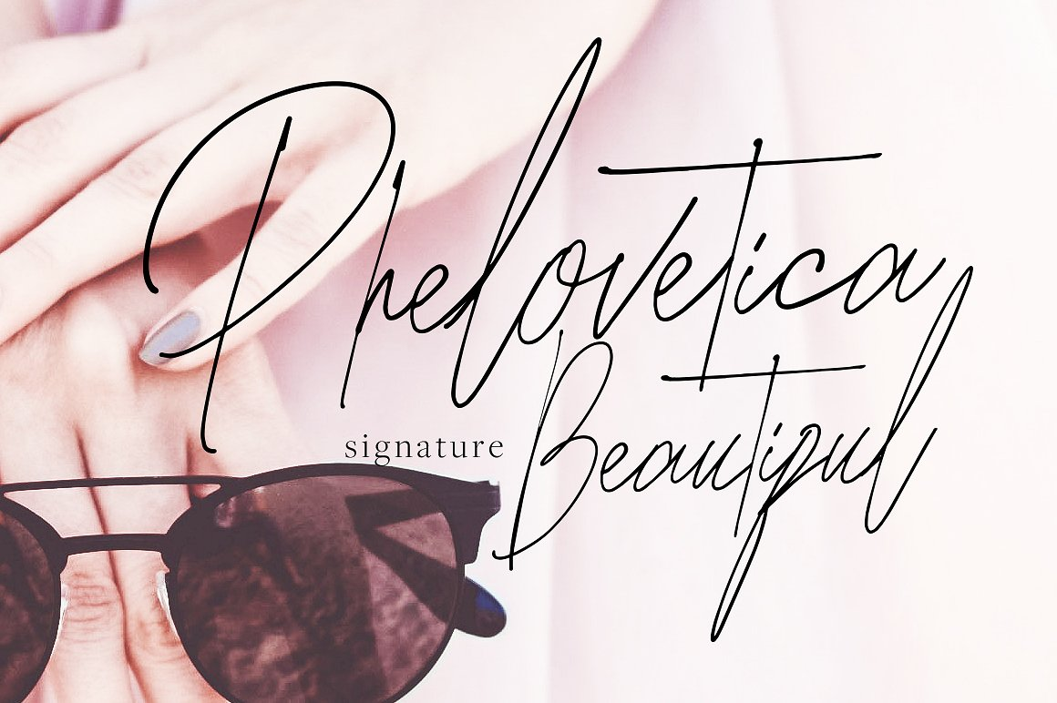 Print on Demand: Phelovetica Script & Handwritten Font By bloomxxvi