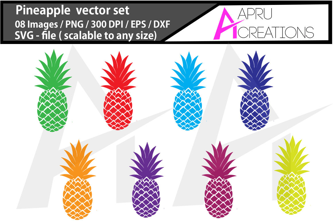 Download Free Pineapple Graphic By Aparnastjp Creative Fabrica for Cricut Explore, Silhouette and other cutting machines.