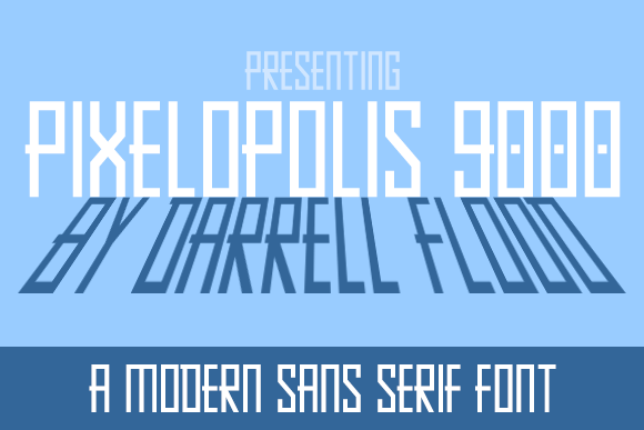 Print on Demand: Pixelopolis 9000 Display Font By Dadiomouse
