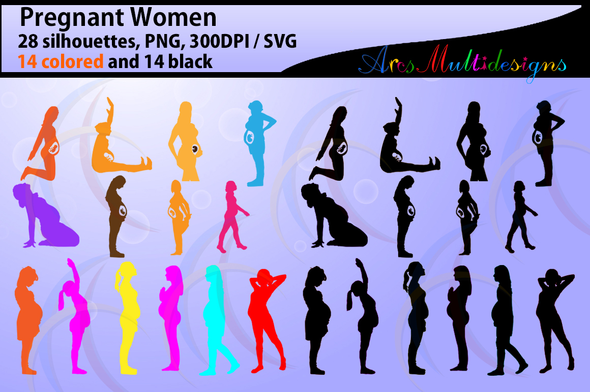 Print on Demand: Pregnant Women Silhouette Graphic Illustrations By Arcs Multidesigns