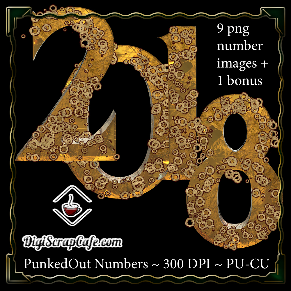 PunkedOut Steampunk Numbers Graphic By Sojournstar