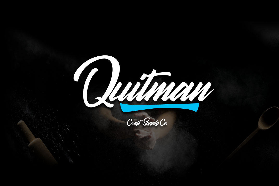 Print on Demand: Quitman Script & Handwritten Font By craftsupplyco