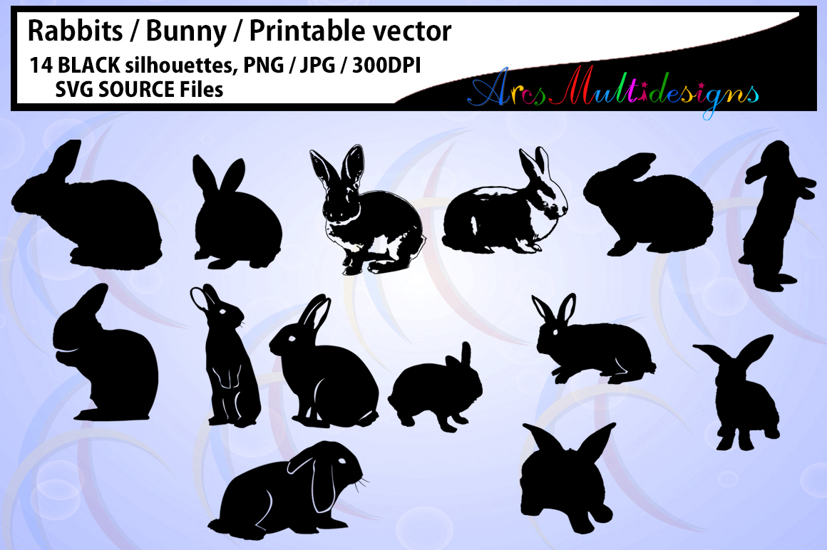 Print on Demand: Rabbit Silhouette Graphic Crafts By Arcs Multidesigns