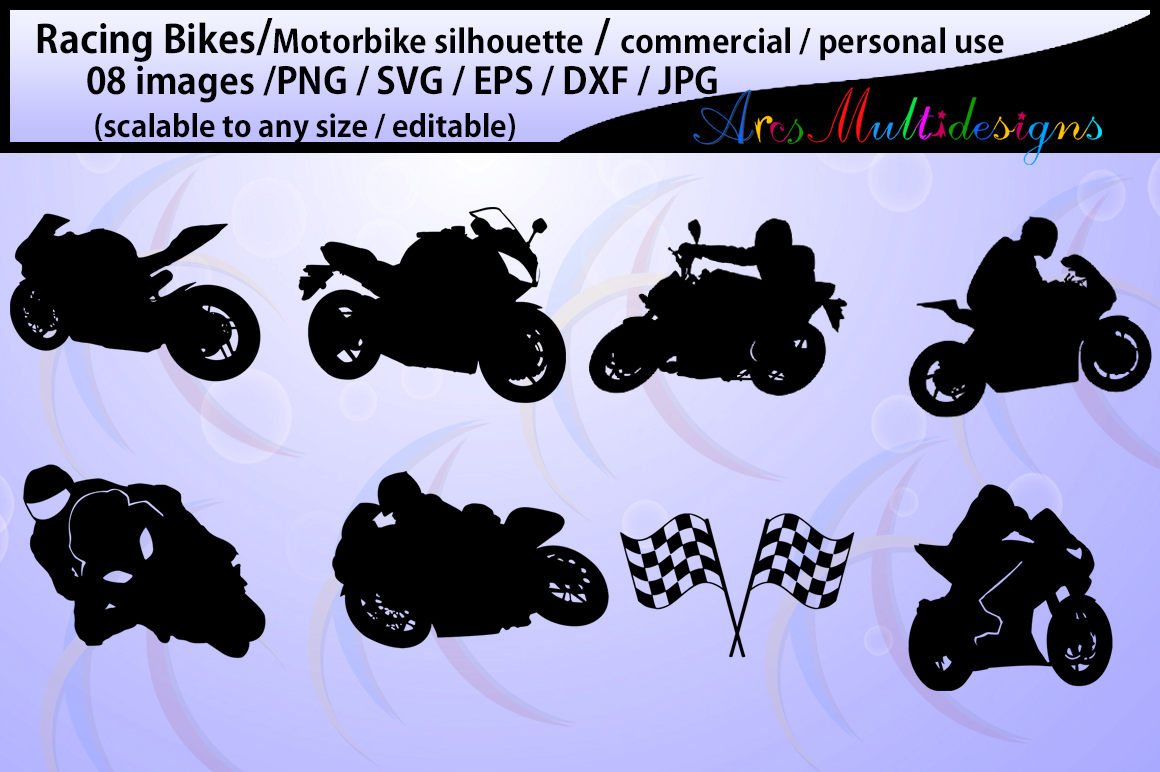 Print on Demand: Racing Bike Silhouette Graphic Crafts By Arcs Multidesigns