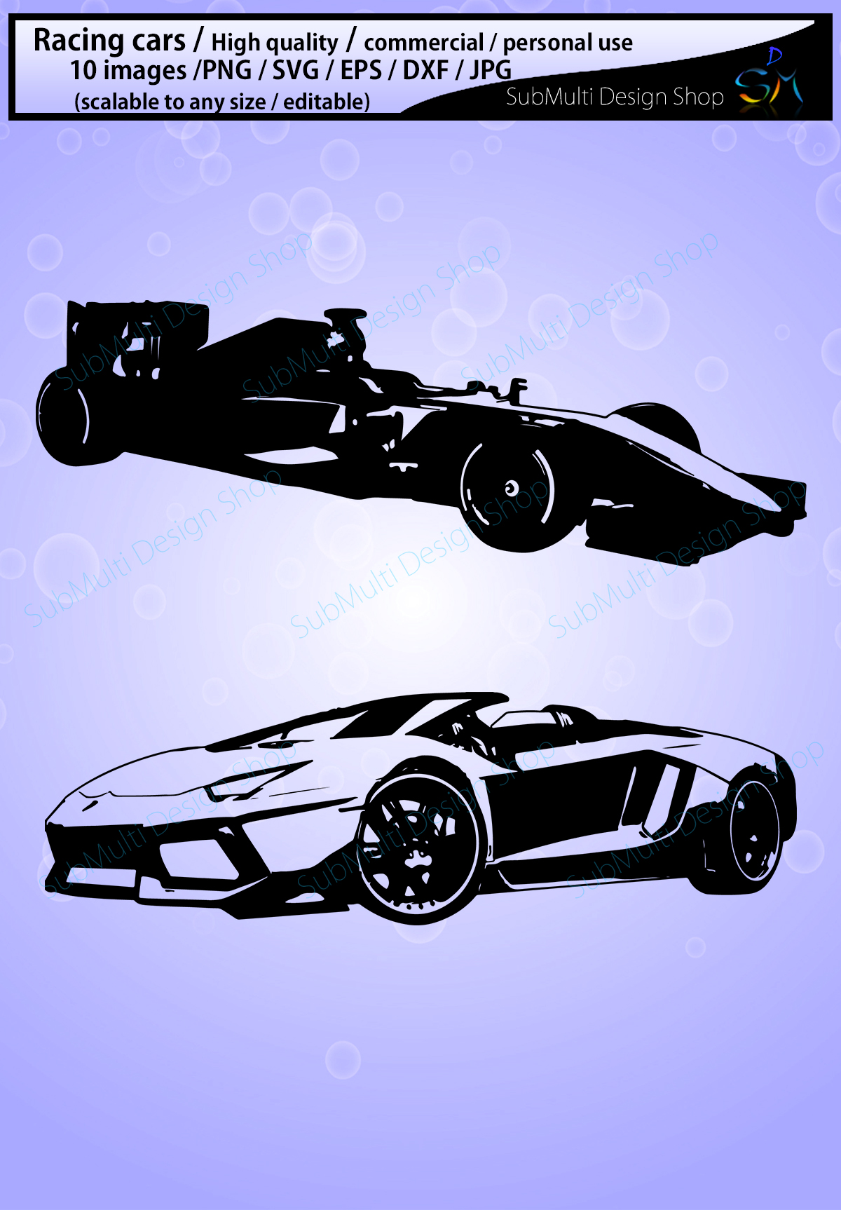 Download Free Racing Car Silhouette Graphic By Arcs Multidesigns Creative for Cricut Explore, Silhouette and other cutting machines.