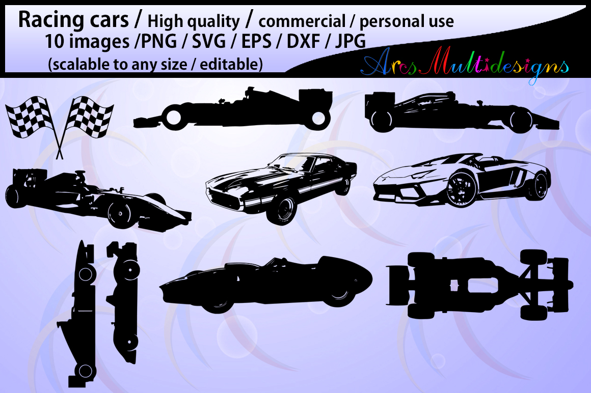 Print on Demand: Racing Car Silhouette Graphic Crafts By Arcs Multidesigns