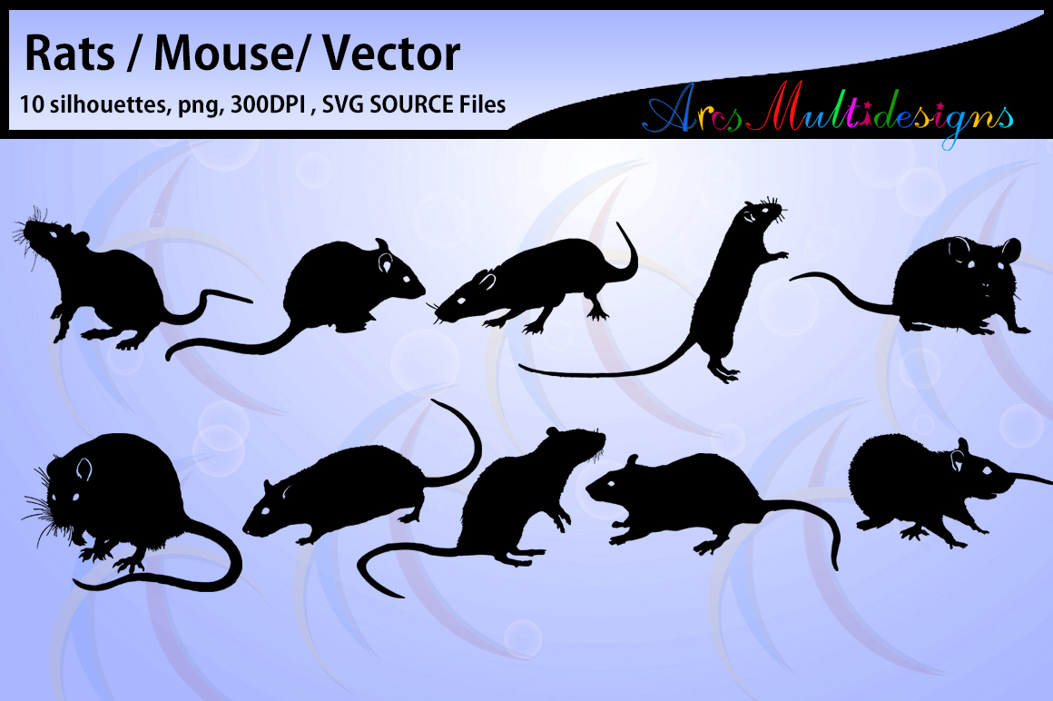 Print on Demand: Rat Silhouette Graphic Crafts By Arcs Multidesigns