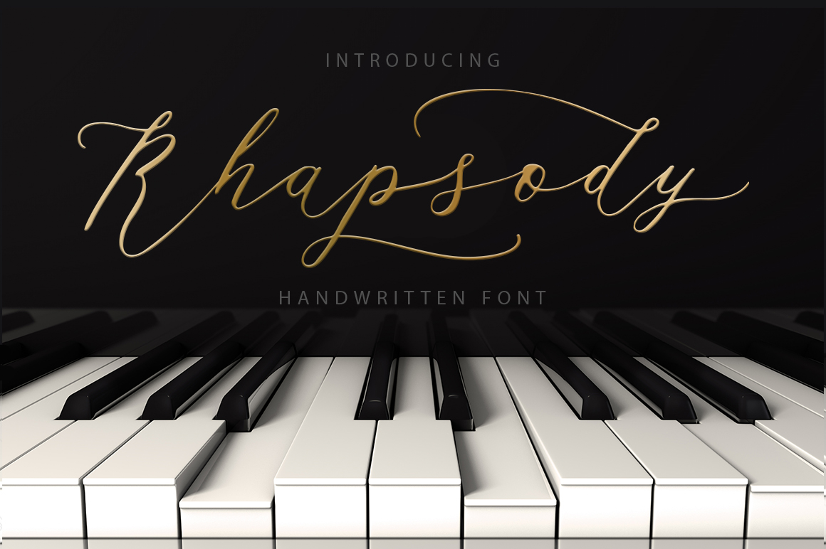 Rhapsody Font By Red Ink