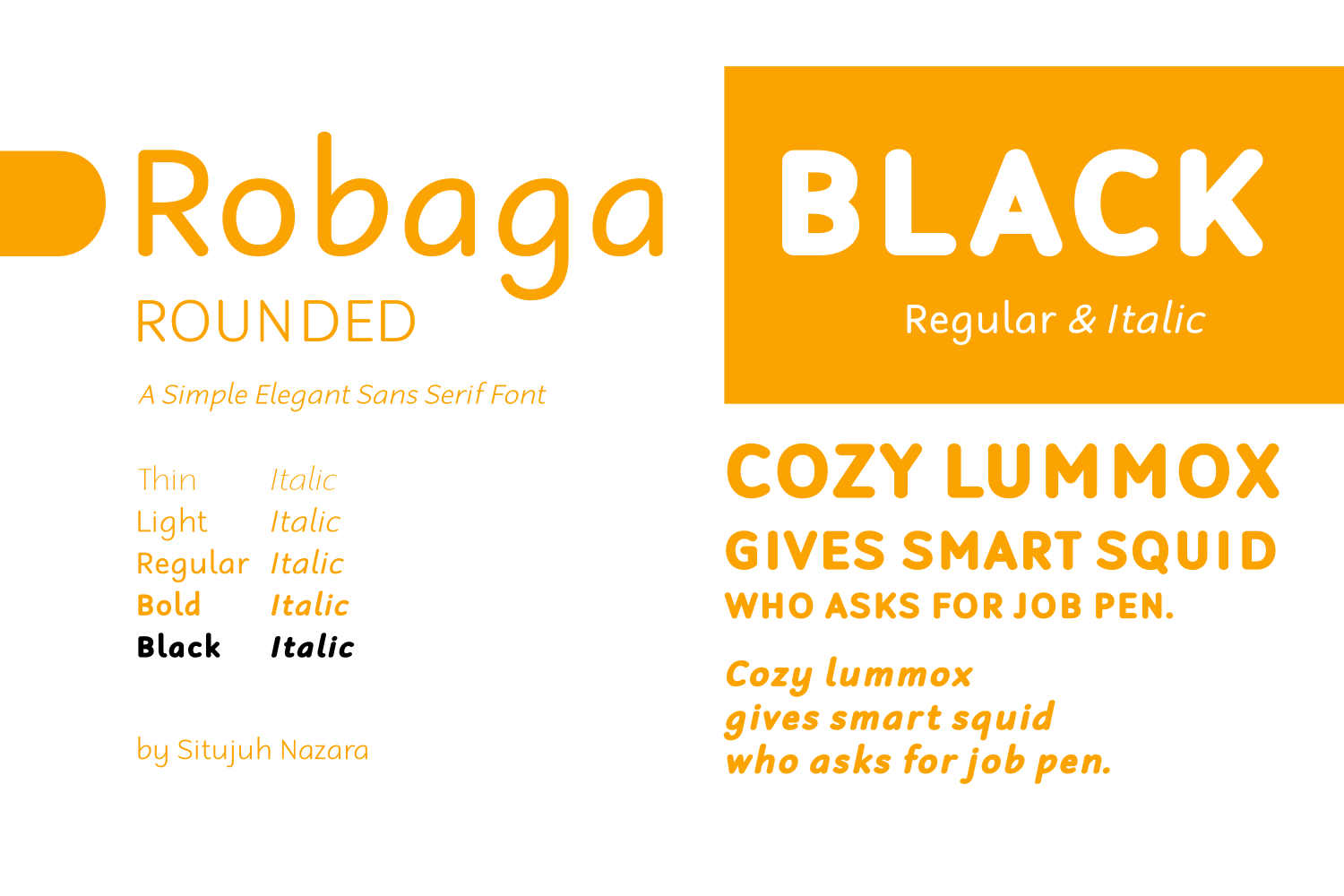 Print on Demand: Robaga Rounded Black Sans Serif Font By Situjuh