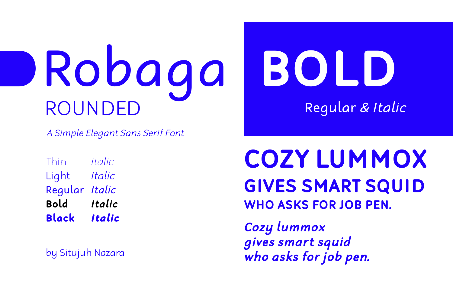 Print on Demand: Robaga Rounded Bold Sans Serif Font By Situjuh