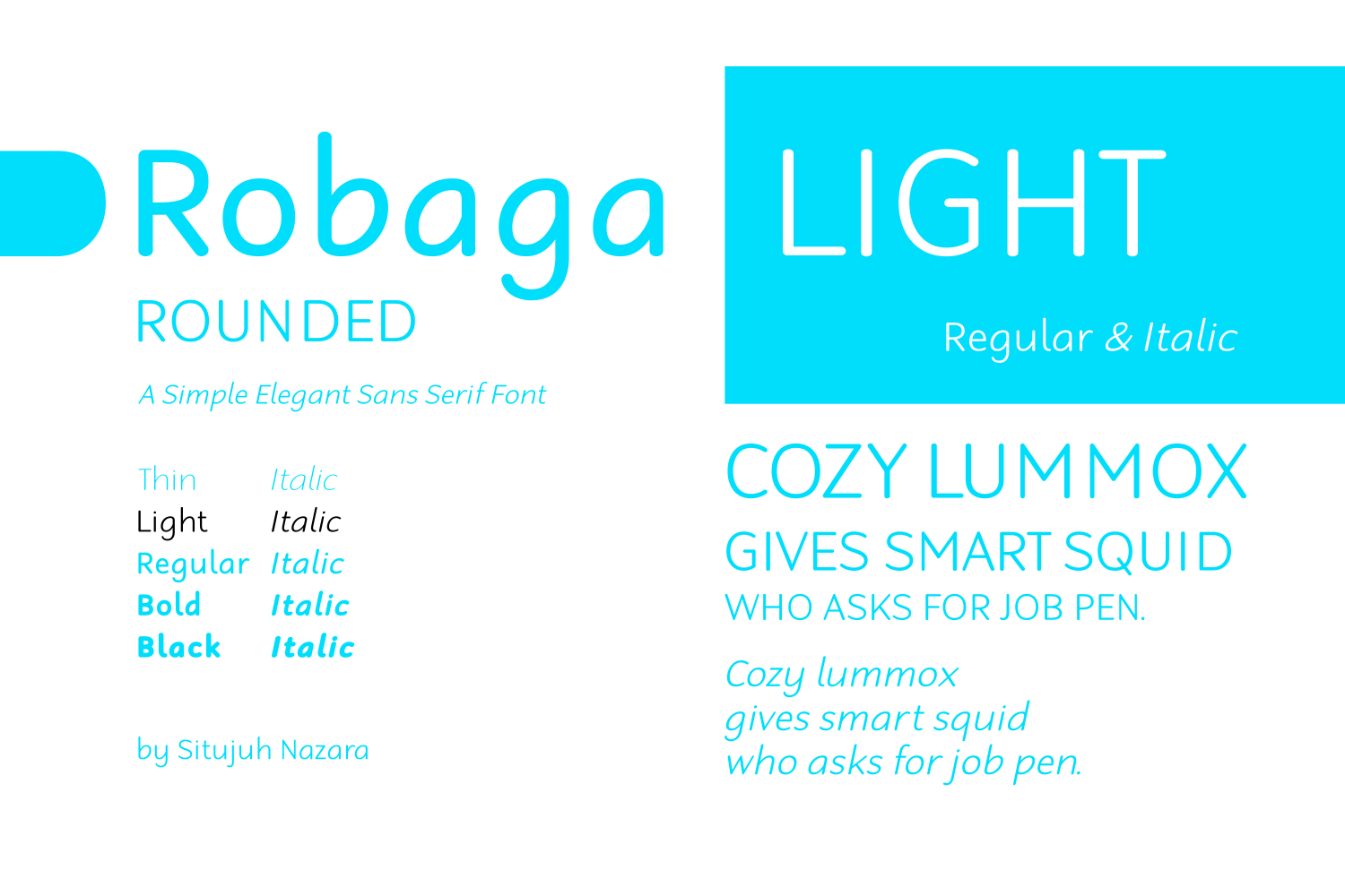 Print on Demand: Robaga Rounded Light Sans Serif Font By Situjuh - Image 1