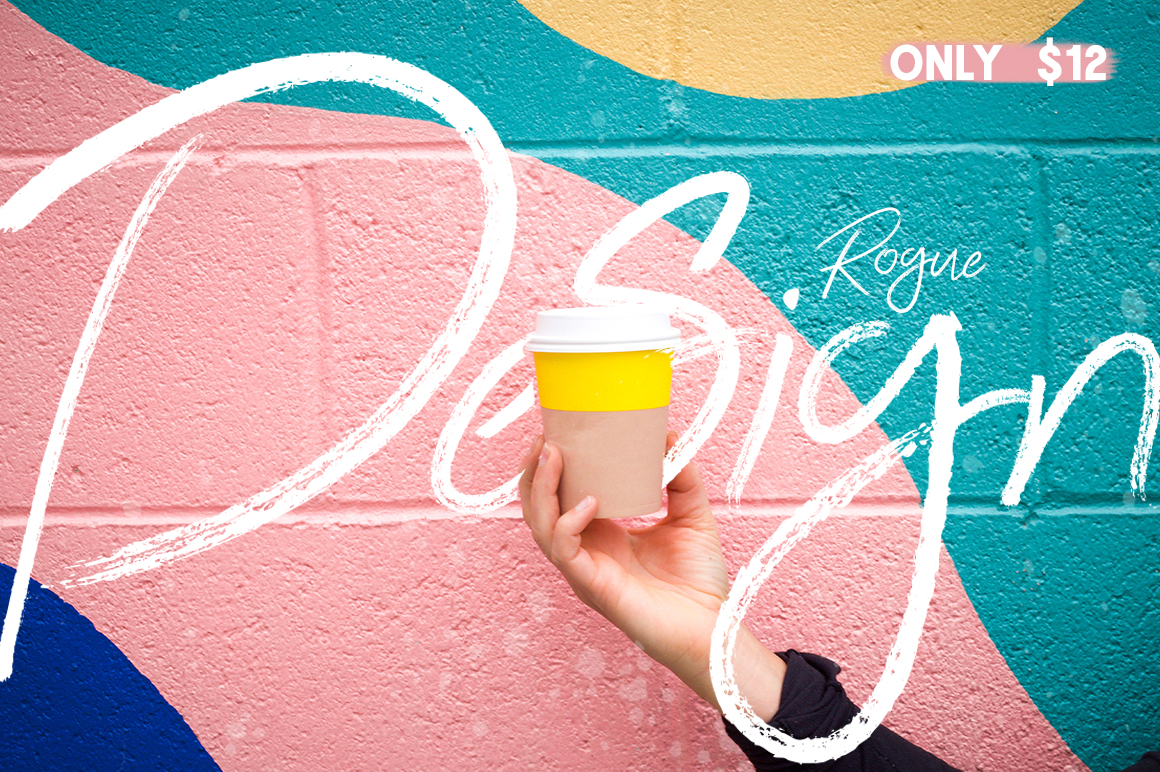 Print on Demand: Rogue Design Script & Handwritten Font By Salt & Pepper Designs