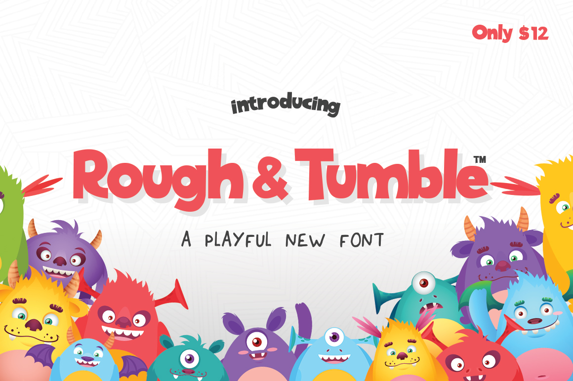 Print on Demand: Rough & Tumble Sans Serif Font By Salt & Pepper Designs