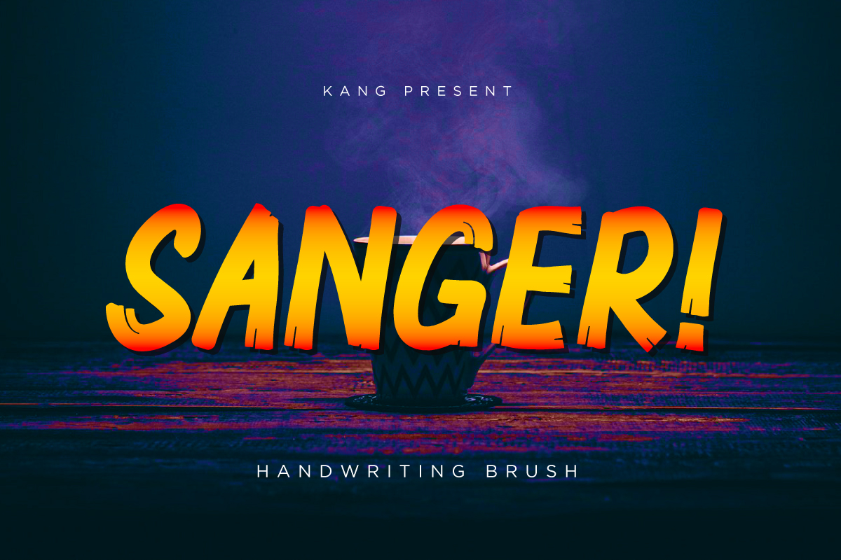 Print on Demand: Sanger Display Font By Kang1993