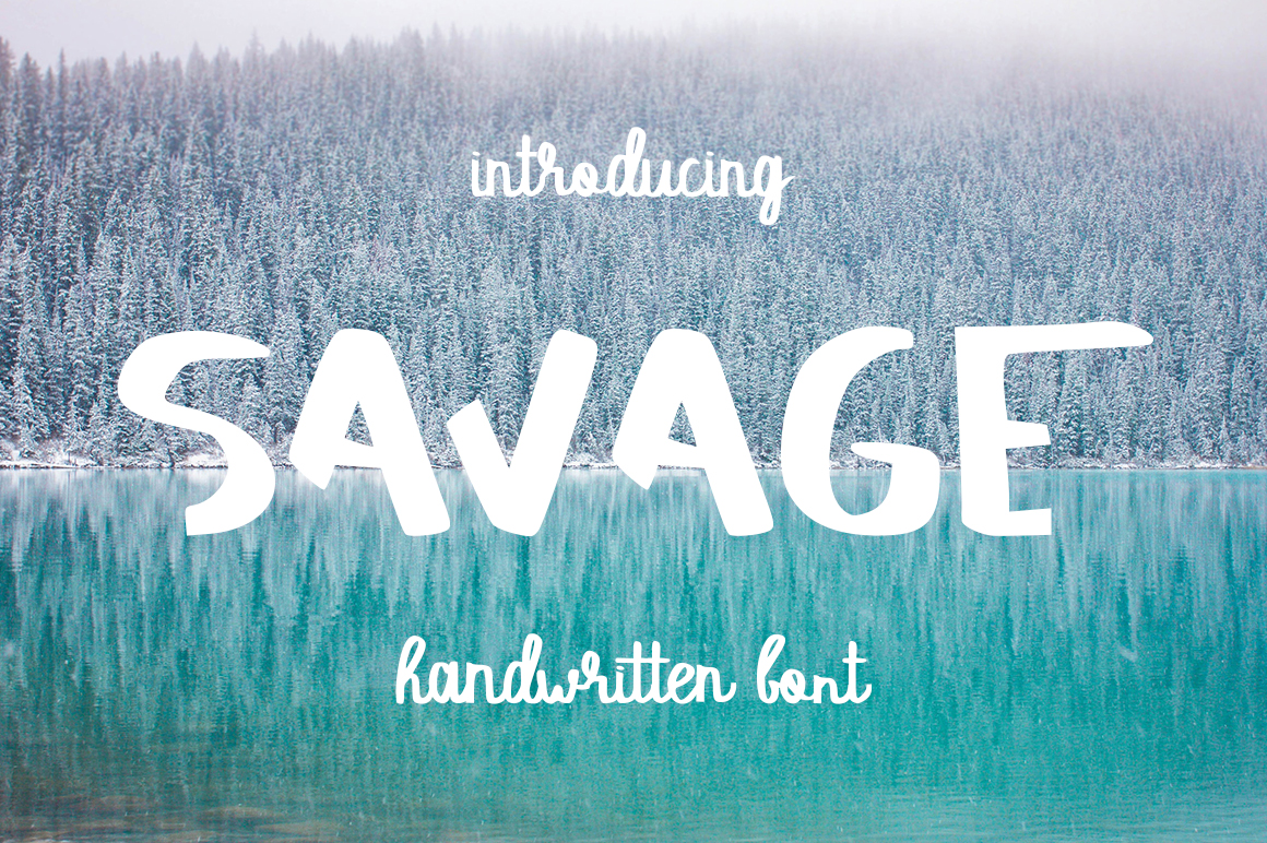 Savage Script & Handwritten Font By InkandBrush