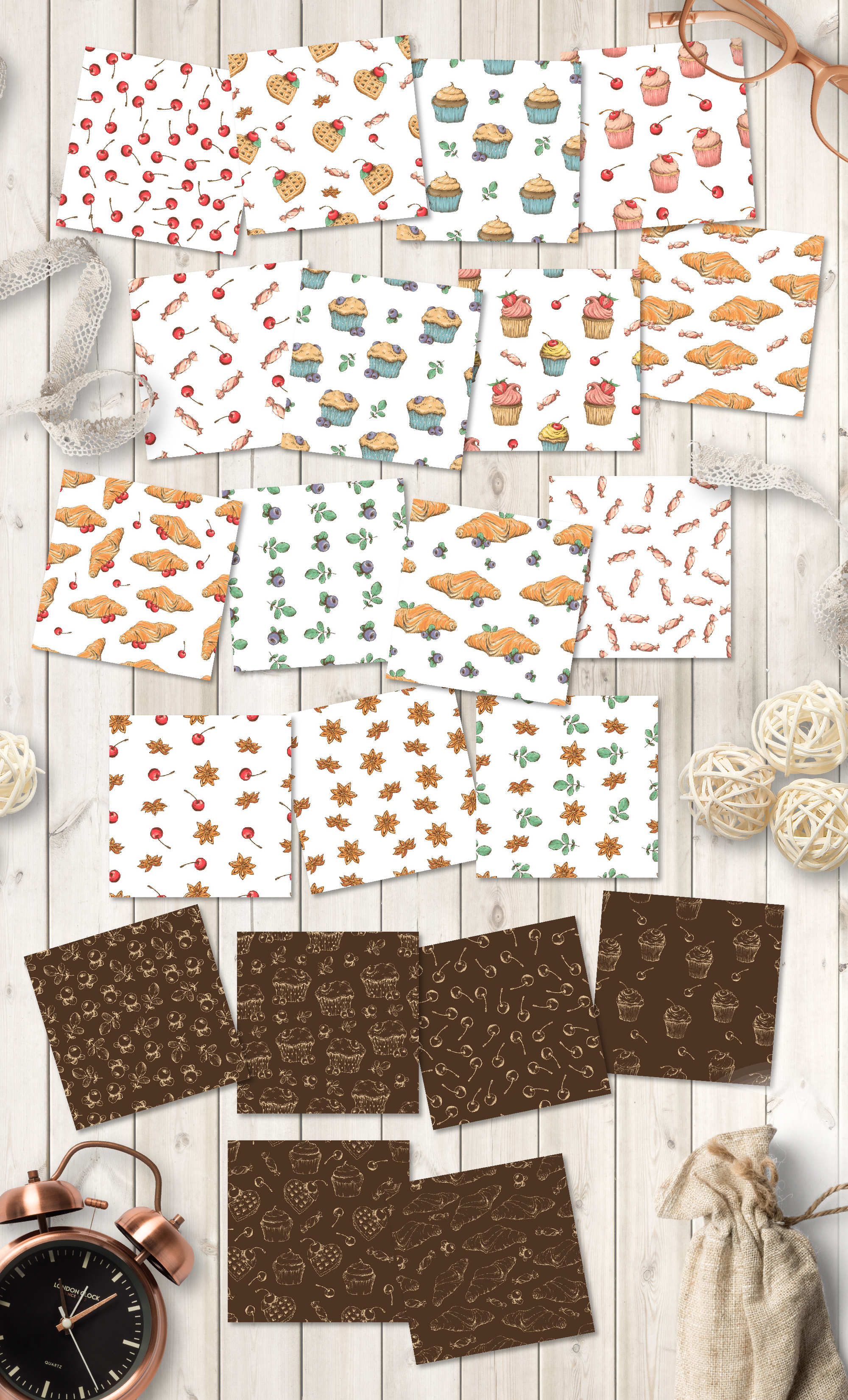 Print on Demand: Set of Vector Sweets Graphic Illustrations By nicjulia - Image 3