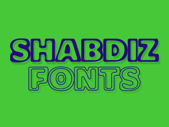 Print on Demand: Shabdiz Display Font By shahab.siavash