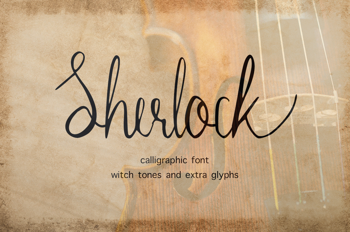 Print on Demand: Sherlock Script & Handwritten Font By InkandBrush