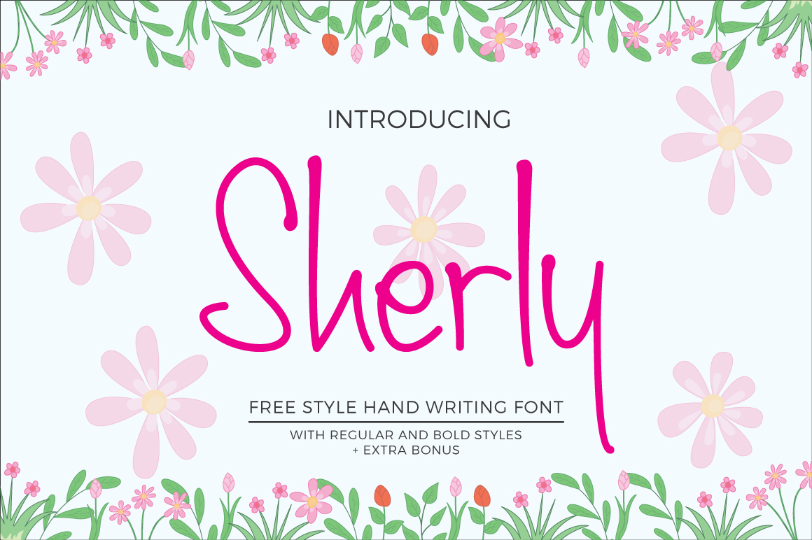 Print on Demand: Sherly Script & Handwritten Font By banks