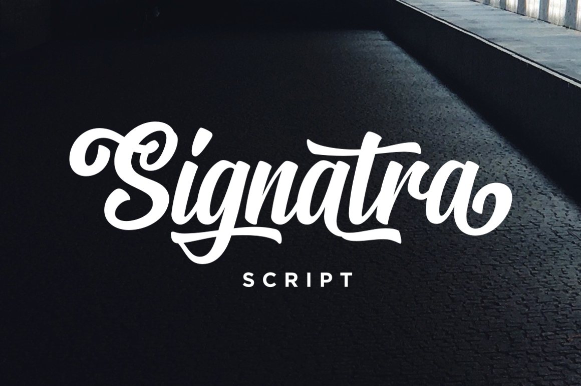 Print on Demand: Signatra Script Script & Handwritten Font By Fontdation