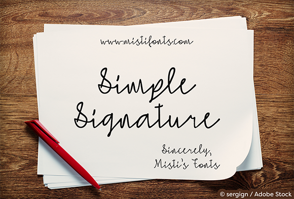 Print on Demand: Simple Signature Script & Handwritten Font By Misti - Image 1