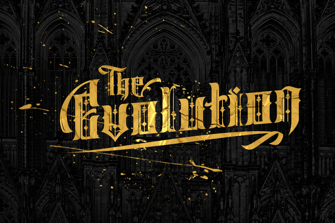 Print on Demand: Sirunian Blackletter Font By Arterfak Project - Image 2