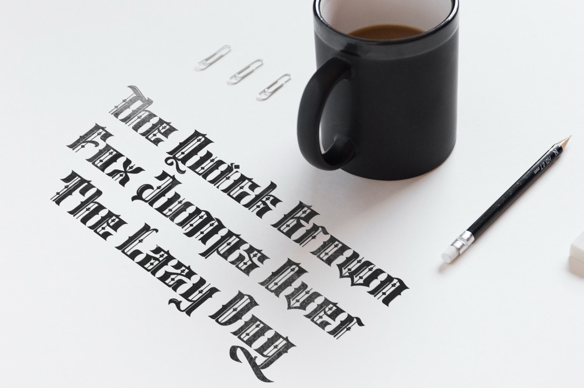 Print on Demand: Sirunian Blackletter Font By Arterfak Project - Image 3